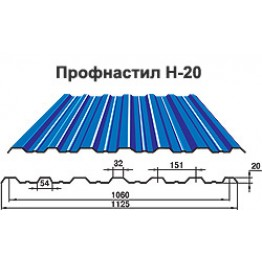 Профнастил Н20 0,5